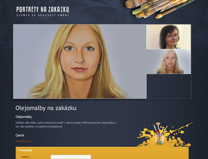 Reference tvorba www stránek portréty na zakázku